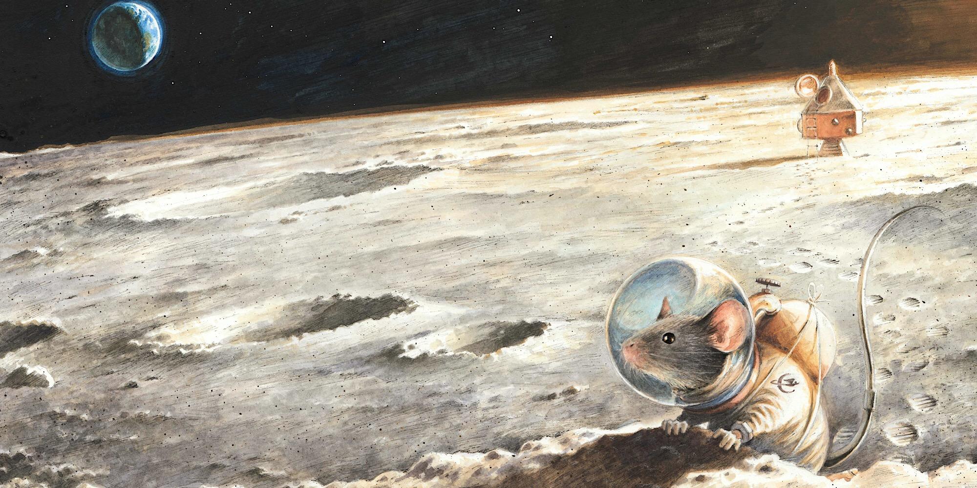 © Torben Kuhlmann, Der erste Erdbewohner auf dem Mond, 2015  © Torben Kuhlmann, NordSüd Verlag AG