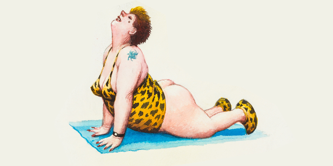 © Manfred Deix, Ohne Titel (Detail), um 2000 © Karikaturmuseum Krems
