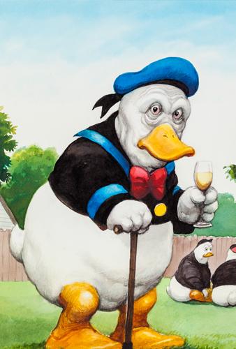 Donald Duck © © Manfred Deix, Landessammlungen Niederösterreich