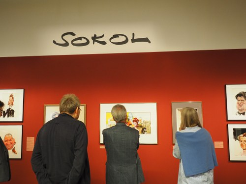 Heinz Fischer im Karikaturmuseum Krems