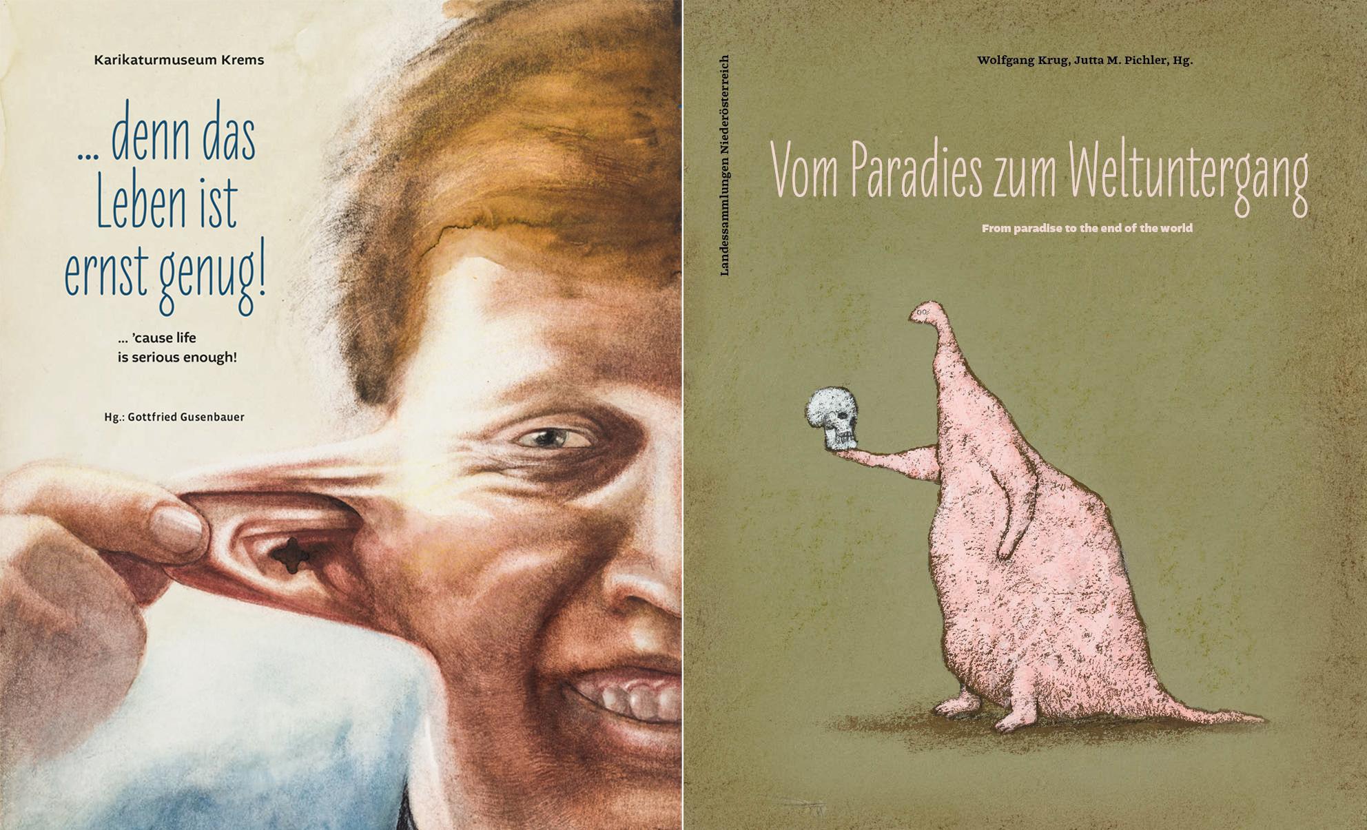 Anlässlich 20 Jahre Karikaturmuseum Krems und 20 Jahre Karikatursammlung des Landes Niederösterreich sind zwei Jubiläumspublikationen erschienen.